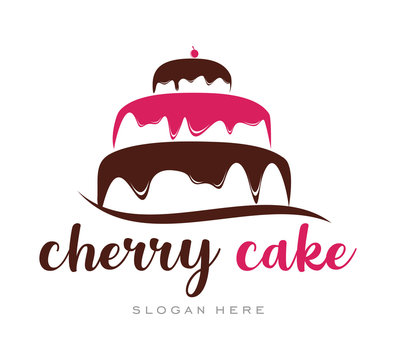 Cherry Cupcake Cream Simple Logo template