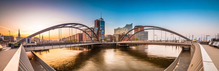 Foto auf Leinwand Amsterdam Hafen von Hamburg - Deutschland