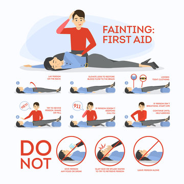 Fainting first aid. What to do in emergency situation