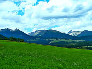 Austrian Alps-view of the Alps
