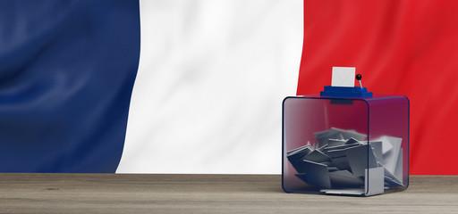 Urne de vote pour les élections Françaises