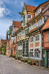 Lauenburg, Germany. The historic old town.