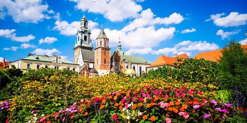 Wawel Castle in Krakow, Poland. In Wawel Cathedral are the royal tombs.