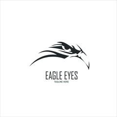 Eagle eyes logo template design. Vector illustration.