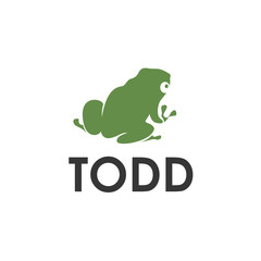 Green toad vector logo image