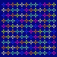 Abstract background of  symbol repeated. Memphis style. Bright and colorful, 90s style. Vector pattern. Neon colors