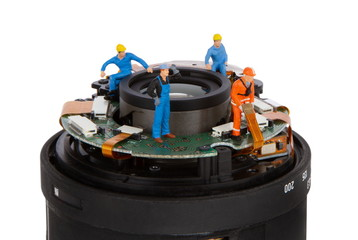 Miniature - lens repair and cleaning