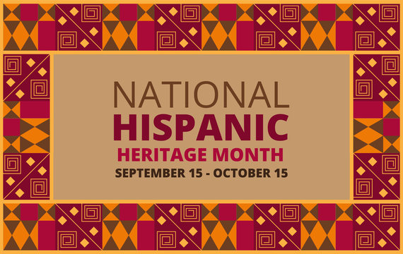 National Hispanic Heritage Month celebrated from 15 September to 15 October USA.