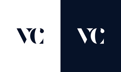 Abstract letter VC logo. This logo icon incorporate with abstract shape in the creative way.