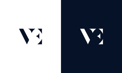 Abstract letter VE logo. This logo icon incorporate with abstract shape in the creative way.