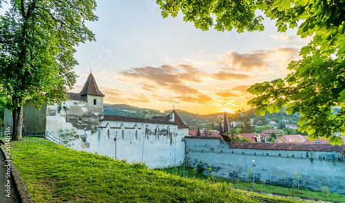 Wall mural Weaver's bastion fortress in Brasov, Transylvania landmark, Romania