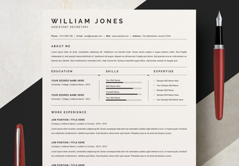 Minimalist Resume Layout Set