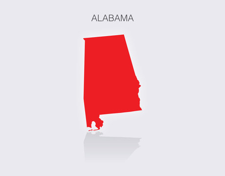 State of Alabama Map in the United States of America