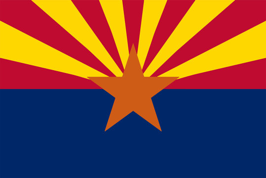 Flag of US State of Arizona Vector illustration