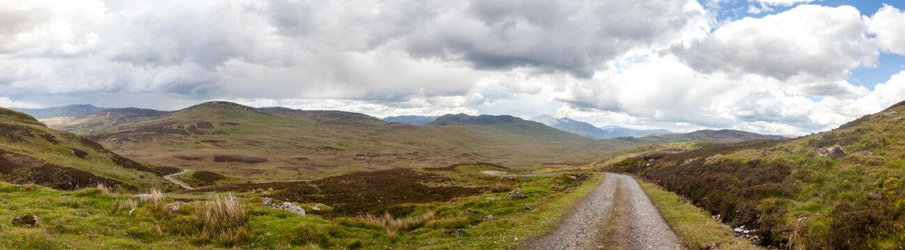Road through rural landscape, Rob Roy Way, Scotland, United Kingdom