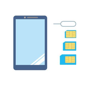 スマートフォン スマホ SIMカード