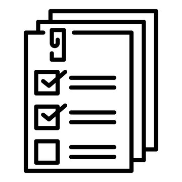List forms icon. Outline list forms vector icon for web design isolated on white background