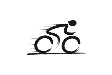 Cycling Race Vector logo illustration, emblem design template inspiration Wall mural