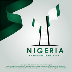 Nigeria Independence Day Vector Design Template