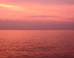 Poster Crimson 夕暮れの海
