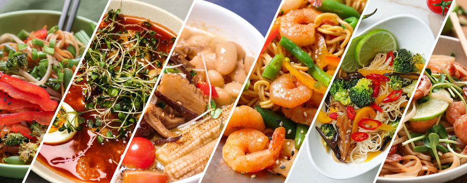 Different tasty Chinese food