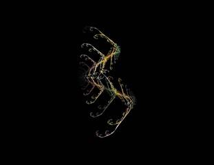 Photo sur Aluminium Musique image of one Digital Fractal on Black Color