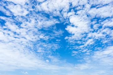 Sea, Clound, Blue sky and Horizon from the sand beach.