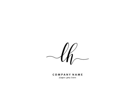 LH Initial letter logo template vector