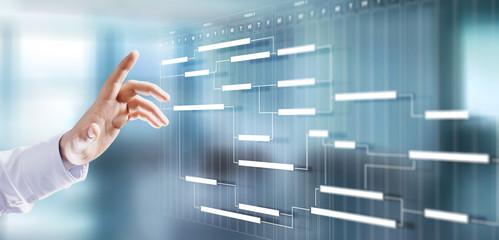 Project management schedule plan diagram business process optimisation concept. Fotomurales