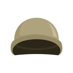 Soldier helmet icon. Flat illustration of soldier helmet vector icon for web design