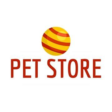 Pet toys store logo. Flat illustration of pet toys store vector logo for web design