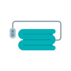 Electric blanket icon. Flat illustration of electric blanket vector icon for web design
