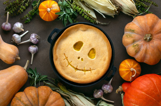Halloween party home baked pumpkin pie