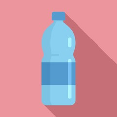 Mountains mineral water icon. Flat illustration of mountains mineral water vector icon for web design