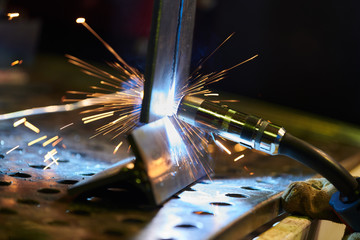 welding. industrial process of material joining