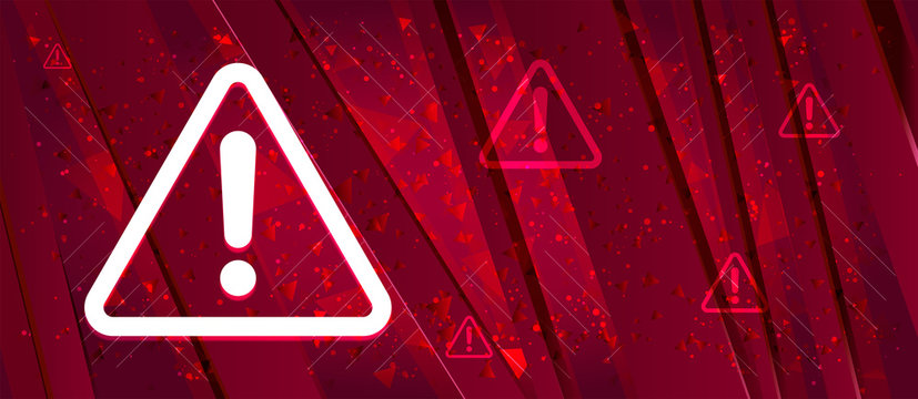 Alert icon Abstract design bright red banner background