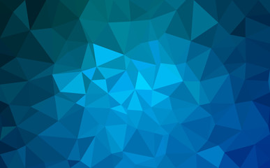 Modern blue abstract polygonal background. Geometric texture background Wall mural