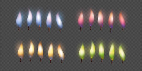 Candle Flame Set