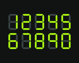 Set of digital numbers. Vector illustration icon.