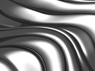 Abstract silver wavy stripes background