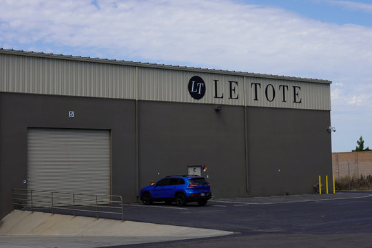 Subscription clothing rental company Le Tote's warehouse is seen in Stockton