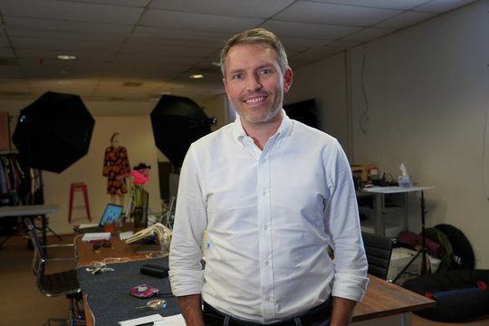 Brett Northart, founder and president of Le Tote, poses in San Francisco