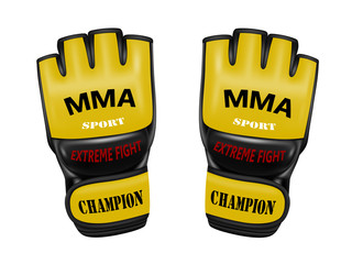 MMA gloves in vector.Mixed martial arts gloves in vector.