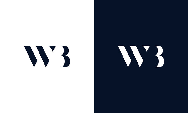 Abstract letter WB logo. This logo icon incorporate with abstract shape in the creative way.