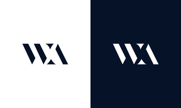 Abstract letter WA logo. This logo icon incorporate with abstract shape in the creative way.