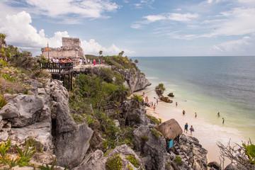 Ruinas arqueológicas Mayas en Tulum Mexico