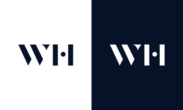 Abstract letter WH logo. This logo icon incorporate with abstract shape in the creative way.