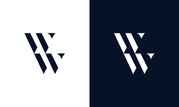 Abstract letter WW logo. This logo icon incorporate with abstract shape in the creative way.