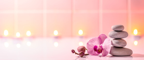 Spoed Foto op Canvas Orchidee Spa still life