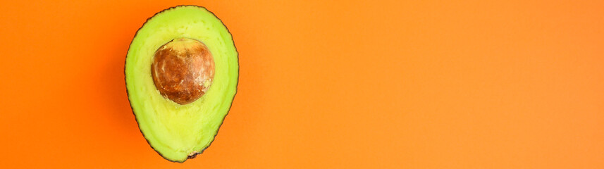 avocado (green and ripe fruit, vitamins) top menu concept. food background. copy space